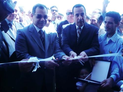 محافظ شمال سيناء اللواء محمد شوشة مع وزير التعليم د يسرى الجمل