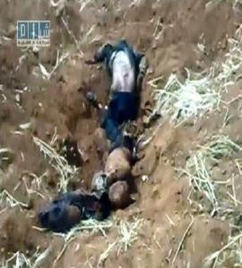 """مقبرة جماعية فى سوريا """" شام الاخبارية """""""