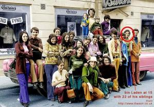 binladenfamily اسامة بن لادن وسط اسرته خلال وجودهم بامريكا