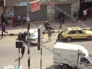 تصوير عبد الهادى الازعر .. اثناء الاشتباكات