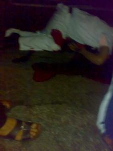 الضابط محمد الخولى بعد اصابته بالرصاص فى موقع الحادث