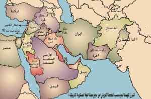 خارطة الشرق الأوسط الجديد التي وضعتها إدارة جورج بوش