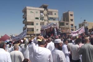 مظاهرات فى حب مصر بالعريش