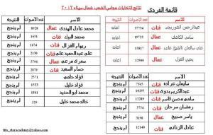 عدد اصوات المرشحين الفائزين والخاسرين فى شمال سيناء