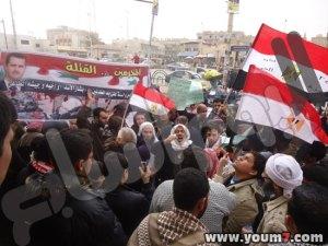 تصوير سعيد ابو الحج - مظاهرات ضد نظام الطاغية بشار الاسد فى العريش