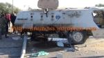 المدرعة فى موقع الحادث بالشيخ زويد